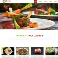 restaurant website template with menu