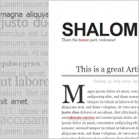 Shalom Typo Template