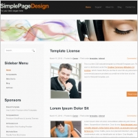Simple Page Design Template