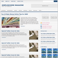Simple Scheme Magazine Template