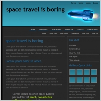 Space Travel Is Boring Template