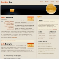 Spotlight Blog Template