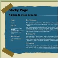 Sticky Page Template