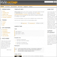 Style vantage 1.0 Template