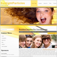 Sunlight Particles Template