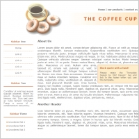 The Coffee Cup Template