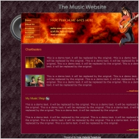 The Music Website Template