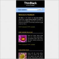 thin black