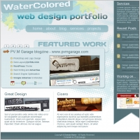 Water Colored Portfolio Template