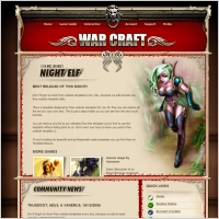 World of Warcraft Template