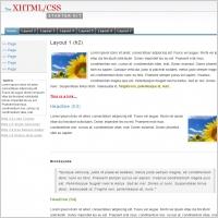 XHTML CSS Starter Kit Template