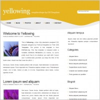 yellowing