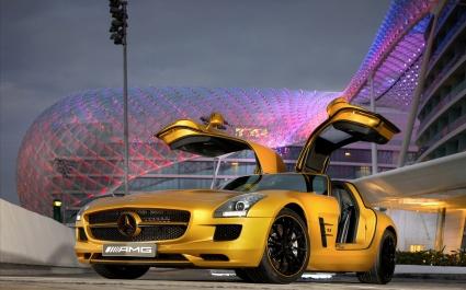 2010 Mercedes Benz SLS AMG Desert Gold 5