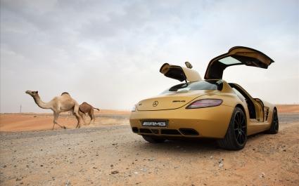 2010 Mercedes Benz SLS AMG Desert Gold 8