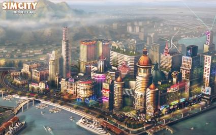 2013 SimCity Game Concept Art
