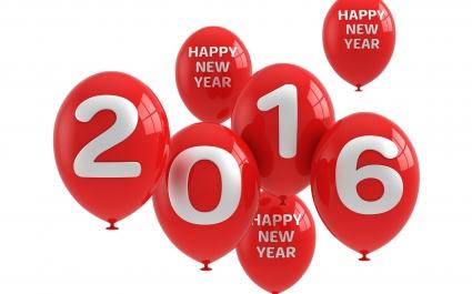 2016 Happy New Year Balloons