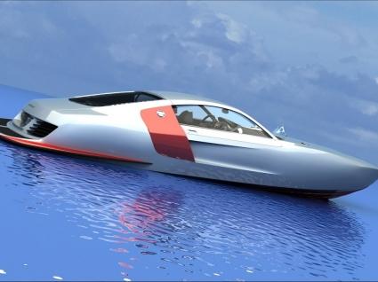 3D Boat concept Wallpaper 3D Models 3D