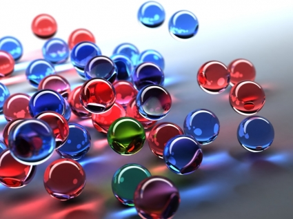 3D Bubbles Wallpaper Abstract 3D
