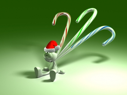 3D Christmas Smile Wallpaper Abstract 3D