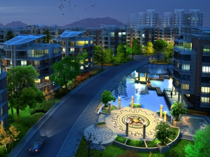 3D City Wallpaper Architecture Other
