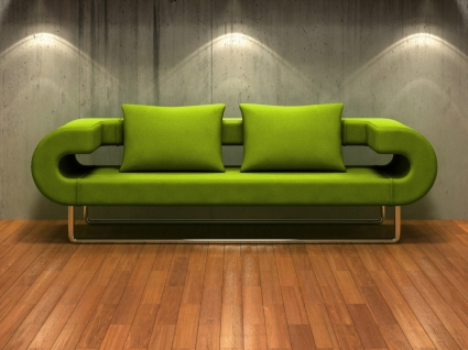 3D Couch Wallpaper Interior Design Other