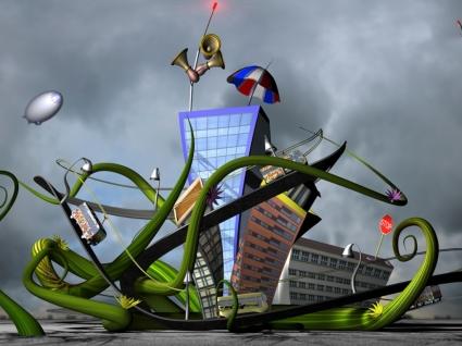 3D Fun City Wallpaper 3D Models 3D