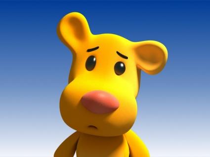 3D Funny Bear Wallpaper 3D Characters 3D