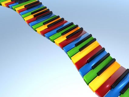 3D Piano Keyboard Wallpaper 3D Models 3D