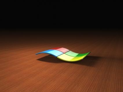 3D Windows Logo Wallpaper Microsoft Computers