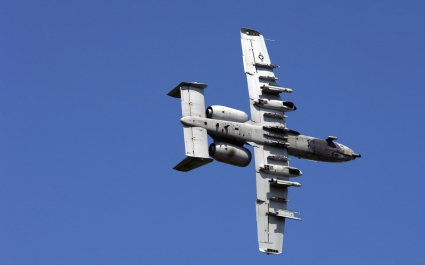 A 10 Thunderbolt Approaching Target