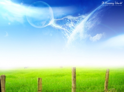 A Dreamy World Wallpaper Abstract 3D