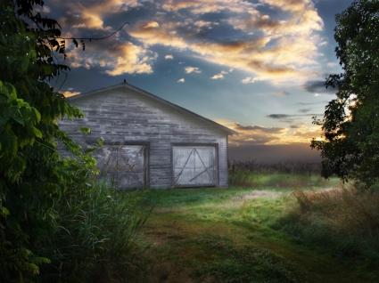 Abandoned Barn Wallpaper Landscape Nature