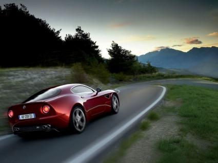 Alfa Romeo 8C Competizione Rear and Side Wallpaper Alfa Romeo Cars