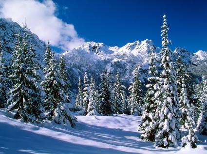 Alpine Lakes Wilderness Wallpaper Winter Nature