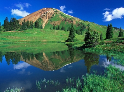 Alpine Pond Colorado Wallpaper Colorado World