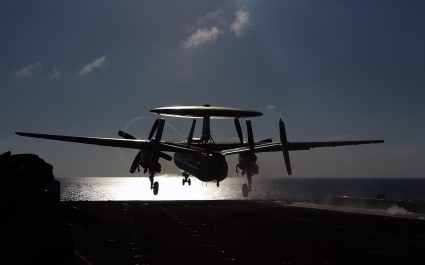 An E 2C Hawkeye from Carrier Airborne