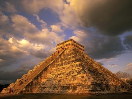 Ancient Mayan Ruins Chichen Itza Mexico