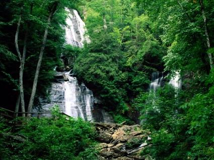 Anna Ruby Falls Wallpaper Waterfalls Nature