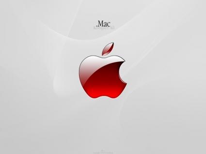 Apple Aqua Red Wallpaper Apple Computers