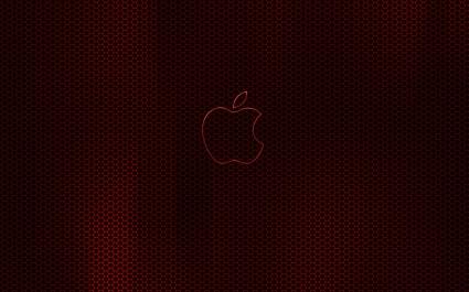 Apple Dark Red Glow