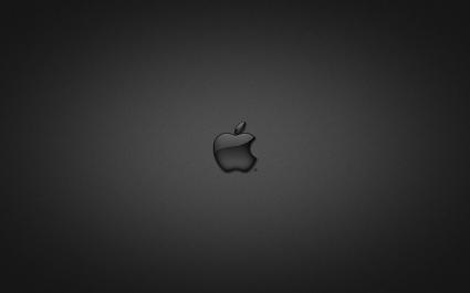 Apple in Glass Black