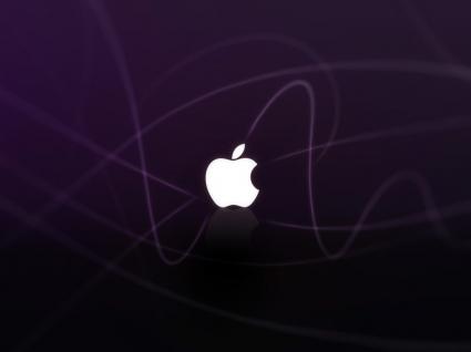 Apple purple Wallpaper Apple Computers