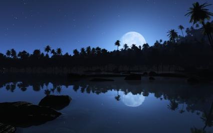 Aqua Blue Night