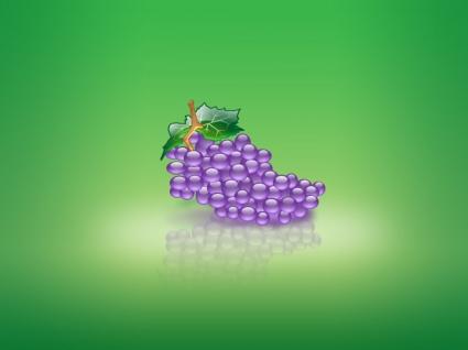 Aqua Grape Wallpaper Abstract 3D