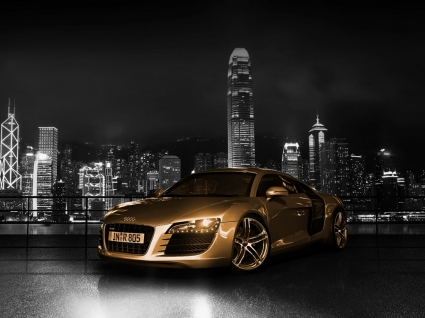 Audi R8 Gold Wallpaper Audi Cars