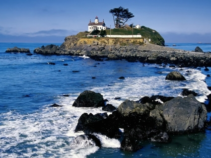 Battery Point Lighthouse Wallpaper Landscape Nature