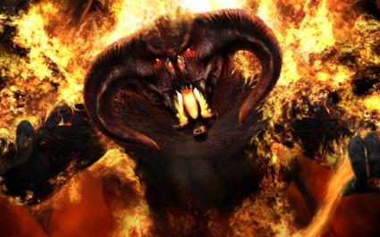 Beast On Fire Wallpaper Abstract 3D