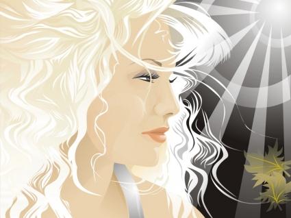 Blond Vector Wallpaper Vector 3D