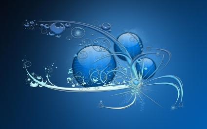 Blue Abstract Widescreen