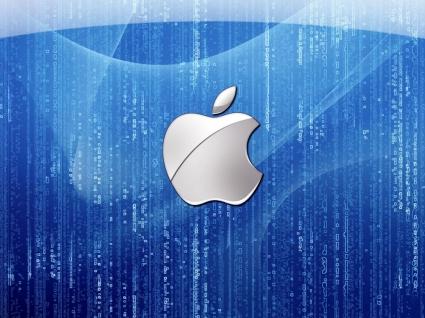Blue Apple Wallpaper Apple Computers